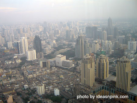 View from the Observation Deck at the 77th floor of Baiyoke Sky Hotel