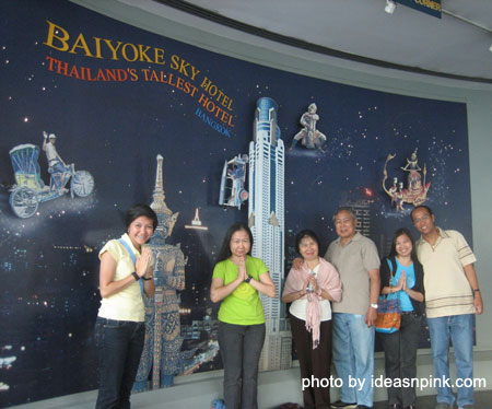 At the Observation Deck at the 77th floor of Baiyoke Sky Hotel
