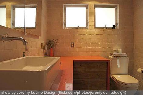 bathroom design interior - brown theme