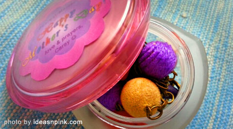 Creative DIY Mother's Day gift using recycled Pond's cream jar