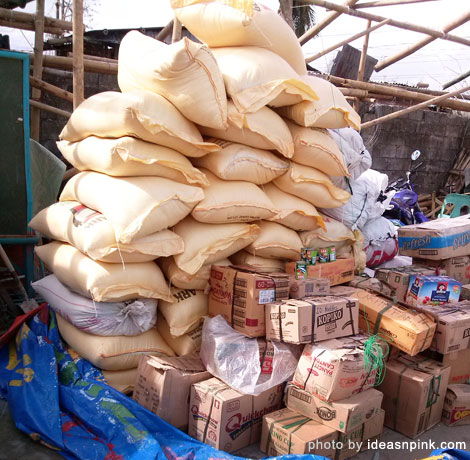 Relief goods for the victims of Yolanda supertyphoon