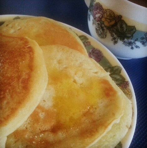 Homemade pancakes are the best! ? What's your fave topping?